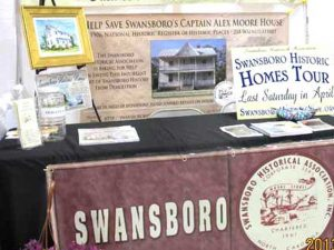 Yearly events the association participates in promoting Historical Swansboro.