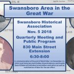 Swansboro Historical Association November Meeting and Program