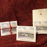 Notecards featuring a painting of the Swansboro waterfront are being sold as a fundraiser for the Swansboro Historical Association
