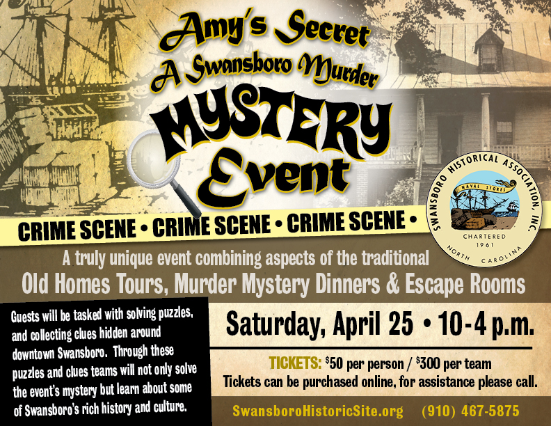 Amy's Secret: A Swansboro Murder Mystery Event